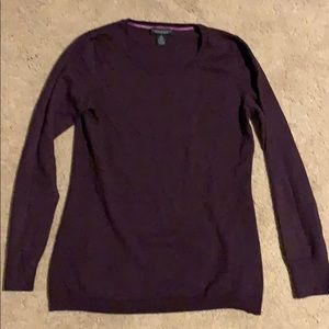 Deep purple wool sweater